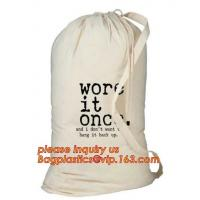 Custom printed nylon canvas biodegradable baby 100% organic cotton laundry bag