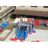 Buy cheap 0.55mm PVC Tarpaulin Inflatable Bounce House Slide Combo For Kids from wholesalers