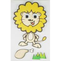China ECO Friendly Colored 3D Cartoon Stickers Lion Printed For Gifts Self Adhesive wholesale