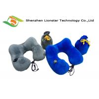 China Air Inflatable Neck Support Travel Pillow , U Shaped Comfortable Travel Pillow wholesale