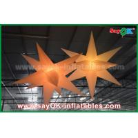 China Nylon Advertising LED Star Balloon Outdoor Inflatable Decorations WIth CE / UL Blower wholesale