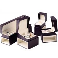 China Custom Luxury Leather Jewelry Box Velvet Inside Durable For Presentation Gift wholesale