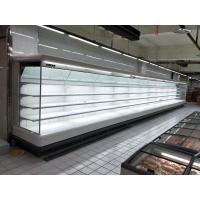 China Open Fronted Wallsite Dairy Display Fridge Showcase With Ventilated Cooling System wholesale