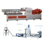 China PP Caco3 Double Screw Extruder Granulation Machine Water Ring Cutting System wholesale