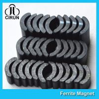 China Powerful Ceramic Ferrite Arc Magnet , Sintered Permanent Magnets Customized wholesale
