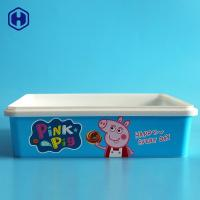 China Empty  IML Box Custom Labels Thin Wall Plastic Biscuit Containers wholesale