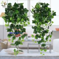 China UVG interior decoration 1 meter green hanging faux ivy with plastic vine leaves for sale CHP01 wholesale