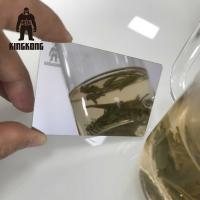 China Anti Fingerprint  Mirror Business Cards , Stainless Steel Business Cards 85x54mm wholesale