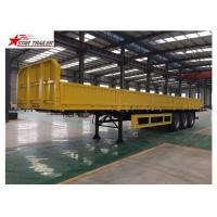 China 30-60 Tons Front Load Trailer Drop Side Wall And Checked Steel Floor wholesale