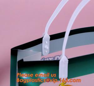 China Supermarket Soft Loop Handle Shopping Pe Resealable Pp Tote Plastic Waterproof Bag,PP Plastic Handle Bag with UV Printin wholesale