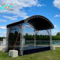 China Outdoor 6061-T6 Aluminium Roof Truss With 30*2mm Brace Tube wholesale