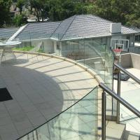 China High Quality Outdoor Curved Aluminum Glass Balustrade / Glass Railing wholesale