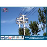 China Distribution Line Q235 Electric Power Poles Steel Tubular Pole With Two Circult wholesale