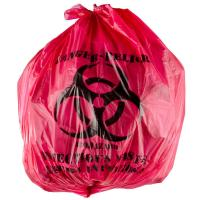 """China 45L Isolation Infectious Recyclable Garbage Bags Red Color 24"""" X 24""""  High Density wholesale"""