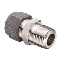 China Fractional Tube NPT Compression Tube Fittings High Hardness Straight Male Connectors wholesale