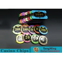 China Difficult To Distort Authentic Casino Poker Chips , Crystal Dice Poker Chips  wholesale