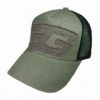 Quality Fashionable Truckers Cap, Made of Cotton Twill, with Single Stitch Applique Embroidery for sale