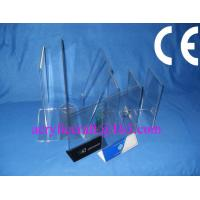 China Acrylic table stand menu holder, PMMA card holder menu stand for hotel supplies wholesale
