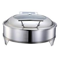 China Catering Buffet Stainless Steel Round Hydraulic Cheap Chafing Dish 1802E wholesale
