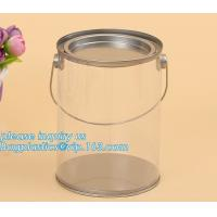 China 100ml pet clear plastic can,fruit candy tin container jars with aluminum lid,1 gallon clear paint can size bagease pack wholesale