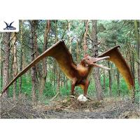 China Handmade / Assembling Pterosaurs Realistic Dinosaur Statues Width 5 Meters wholesale