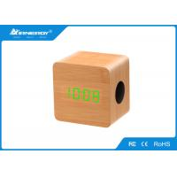 Buy cheap Mini Wooden Wireless Speakers / Wooden Bluetooth Alarm Clock Radio TF AUX from wholesalers