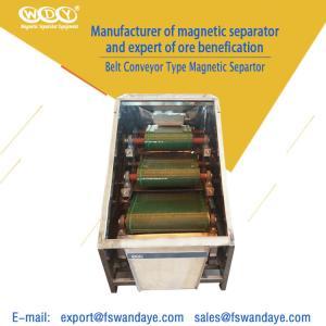 China Belt Magnetic Separator Machine Conveyor 380VAC 50HZ Magnetic Roll Separator for kuartzsand wholesale