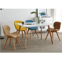 China Beech Mid Century Upholstered Dining Chair wholesale
