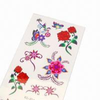China Tattoo Sticker for Promotional Purposes, Made of PVC, Measures 5 x 7cm wholesale