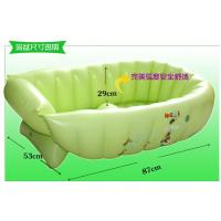 China Green Inflatable Swimming Pools PVC , Air Bathtub For Baby Bathing wholesale