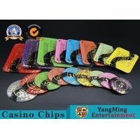 China Casino Printable Acrylic Ultimate Poker Chips Jeton Diameter 81 * 56 / 94 * 66mm wholesale