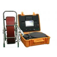 China Wear Proof SS Structure Sewer Inspection Camera , Pipe Inspection System With High Light LED Lamps wholesale