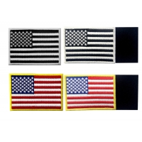 Buy cheap Embroidered USA Country Flag Patches With Hook And Loop Backing from wholesalers