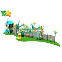 China Fun Outdoor Playhouse With Slide And Swing , Kids Outdoor Climbing Equipment Frames wholesale
