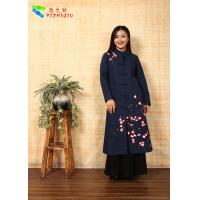 China Soft Embroidered Winter Coats , Chinese Garment Jacquard Cotton Trench Coat wholesale