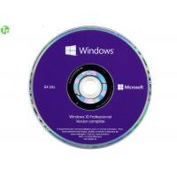 Quality Windows 10 COA License Sticker Windows 10 Pro OEM With Genuine Purple DVD + Key License wholesale