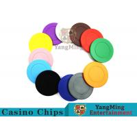 China Roulette Dedicated Solid Color Plastic Poker Chips With Customized Print Logo wholesale