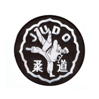 China Polyester 49mm Logo Embroidery Patch wholesale
