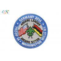 China American Germany Embroidered Military Patches Polyester Material With Letter Logo wholesale