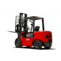 China 3 Ton JAC Diesel Forklift Truck Lift Height 3M - 6M Isuzu Engine Red Color wholesale
