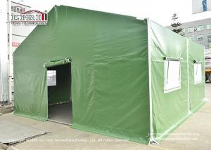 China Outdoor Waterproof Flame Retardant Military tents for Army with Sidewalls, Custom canvas waterproof army military tent wholesale