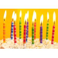 China Scheme Color Streak Striped Birthday Candles , Beautiful Custom Birthday Candles wholesale