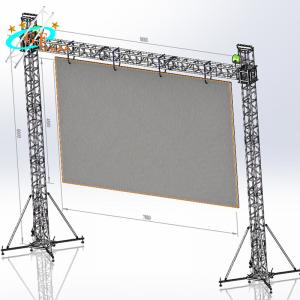 China Ground support system of video flying wall truss for LED screen display panel wholesale