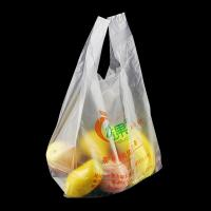 China Factory Wholesale Vest Shopping Degradable Plastic Bag, white colour, HDPE material wholesale