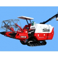 China Full Feeding Whirling Unloading Rice And Wheat Combine Harvester 74kw wholesale