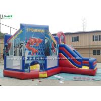 China Funny Spiderman Inflatable Jumping Castles wholesale