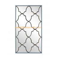 China Direct Factory Price Nice Design Rectangle Wall Mirror With Metal Decorative Antique Gold Wall Mirror wholesale
