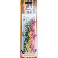 Quality Novel Swirl Shaped Shaped Birthday Candles 5 Colors Pink Blue Yellow Green White wholesale
