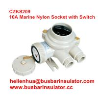 Quality 10A marine nylon watertight plastic CZKS209 1144/R/FS marine rotary switch and socket for sale