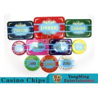 Custom Acrylic Casino Poker Chip Set , New Style Poker Set With Numbered Chips for sale